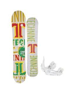 Technine MVP Series Snowboard 157 Rasta w/ Ride EX Snowboard Bindings