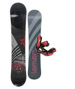Lamar Mission Snowboard One Sixty Three with Lamar Wrap Snowboard Bindings