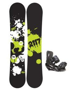 2117 Of Sweden Identity Wide Snowboard 159 2014 w/ Sapient Fusion Snowboard Bindings