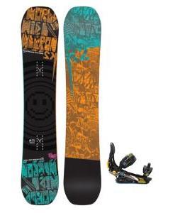 K2 WWW Rocker Wide Snowboard w/ Rome S90 Snowboard Bindings