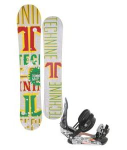 Technine MVP Series Snowboard 153 Rasta w/ Ride LX Snowboard Bindings