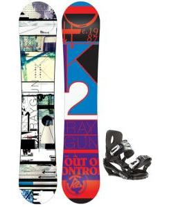 K2 Raygun Snowboard w/ Sapient Stash Snowboard Bindings