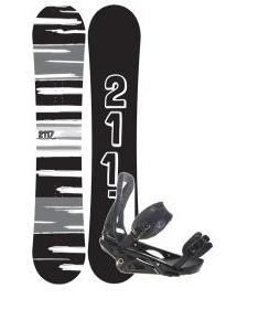 2117 Of Sweden Fader Snowboard 154 2014 w/ Burton P1.1 Snowboard Bindings