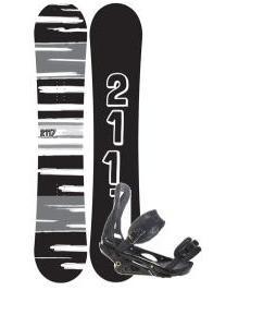 2117 Of Sweden Fader Snowboard 157 2014 w/ Burton P1.1 Snowboard Bindings