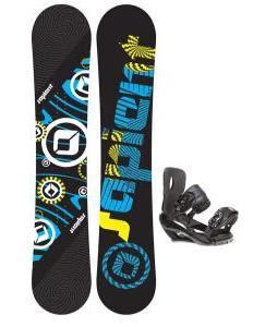 Sapient Cog Snowboard 153 2014 w/ Sapient Wisdom Snowboard Bindings