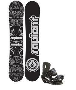 Sapient Outlaw Snowboard 150 2014 w/ Sapient Stash Snowboard Bindings