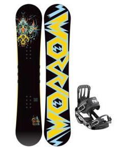 Morrow Truth Snowboard 155 w/ Salomon Pact Snowboard Bindings