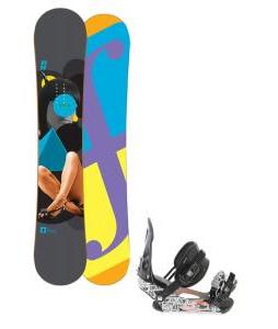 Forum Youngblood Doubledog Snowboard 154 w/ Ride LX Snowboard Bindings