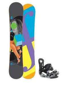 Forum Youngblood Doubledog Snowboard 152 w/ Ride LX Snowboard Bindings
