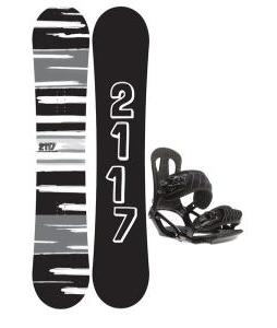 2117 Of Sweden Fader Snowboard 157 2014 w/ Head NX One Snowboard Bindings