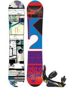 K2 Raygun Snowboard w/ Rome S90 Snowboard Bindings