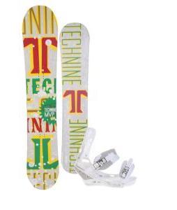 Technine MVP Series Snowboard 159 Rasta w/ Burton Triad Snowboard Bindings