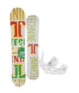 Technine MVP Series Snowboard 153 Rasta w/ Ride EX Snowboard Bindings