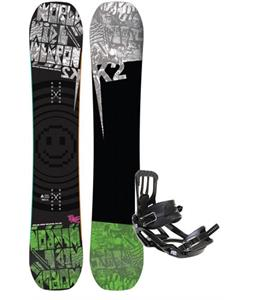 K2 WWW Rocker Wide Snowboard w/ Salomon Pact Snowboard Bindings