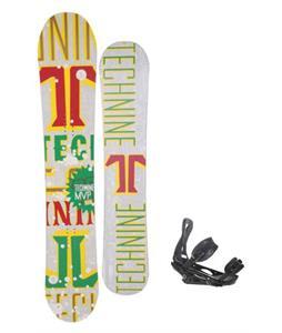 Technine MVP Series Snowboard 157 Rasta w/ Burton P1.1 Snowboard Bindings