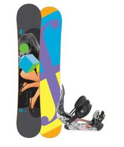 Forum Youngblood Doubledog Snowboard 156 w/ Ride LX Snowboard Bindings