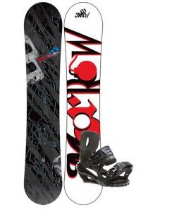 Morrow Fury Wide Snowboard 166 w/ Sapient Stash Snowboard Bindings
