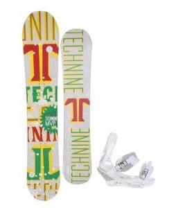 Technine MVP Series Snowboard 153 Rasta w/ Burton Triad Snowboard Bindings