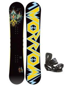 Morrow Truth Snowboard 152 w/ Sapient Stash Snowboard Bindings