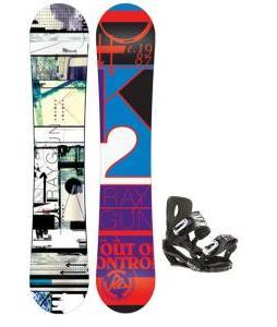 Sapient Evolution Snowboard Wide One Fifty Three with Sapient Wisdom Snowboard Bindings