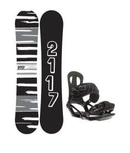 2117 Of Sweden Fader Snowboard 154 2014 w/ Head NX One Snowboard Bindings