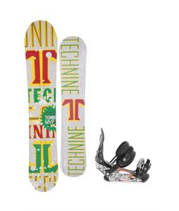 Technine MVP Series Snowboard 159 Rasta w/ Ride LX Snowboard Bindings