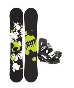 2117 Of Sweden Identity Snowboard 152 2014 w/ Sapient Stash Snowboard Bindings