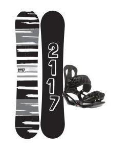 2117 Of Sweden Fader Snowboard 151 2014 w/ Head NX One Snowboard Bindings