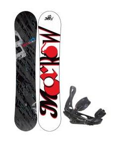 Morrow Fury Wide Snowboard 166 w/ Burton P1.1 Snowboard Bindings