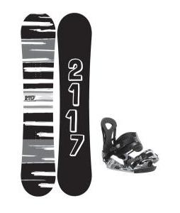 2117 Of Sweden Fader Snowboard 157 2014 w/ Ride LX Snowboard Bindings