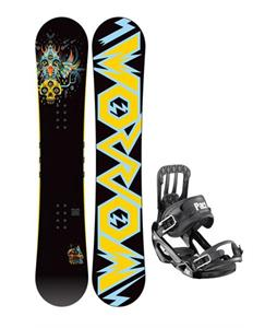 Morrow Truth Snowboard 152 w/ Salomon Pact Snowboard Bindings