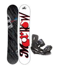 Morrow Fury Wide Snowboard 159 w/ Sapient Fusion Snowboard Bindings