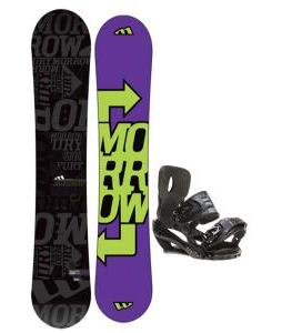 Morrow Fury Snowboard 163 w/ Sapient Stash Snowboard Bindings
