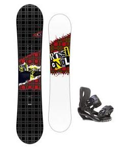 Rossignol Contrast Snowboard 155 w/ Sapient Fusion Snowboard Bindings