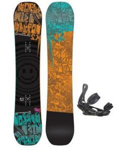 K2 WWW Rocker Wide Snowboard w/ Burton P1.1 Snowboard Bindings