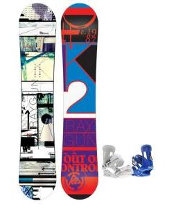 K2 Raygun Snowboard w/ Forum Faction Snowboard Bindings