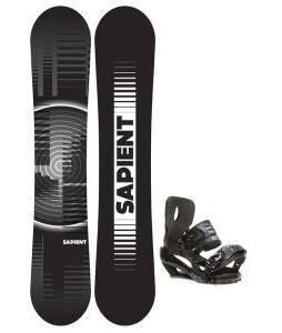 Sapient Sector Wide Snowboard 156 2014 w/ Sapient Stash Snowboard Bindings