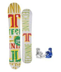 Technine MVP Series Snowboard 153 Rasta w/ Forum Faction Snowboard Bindings
