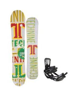 Technine MVP Series Snowboard 157 Rasta w/ Salomon Pact Snowboard Bindings