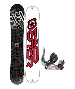 5150 Vice Snowboard 151 w/ Ride LX Snowboard Bindings