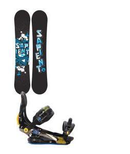 Sapient Trust Wide Snowboard 155 2014 w/ Rome S90 Snowboard Bindings