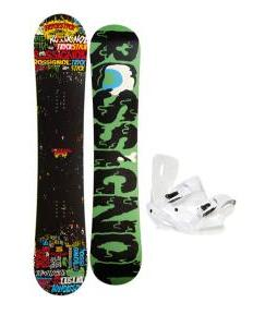 Rossignol Trickstick Amptek Snowboard 151 w/ Sapient Zeus Snowboard Bindings