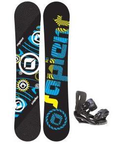Sapient Cog Snowboard 148 2014 w/ Sapient Fusion Snowboard Bindings