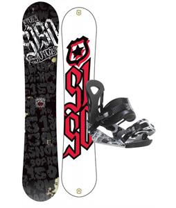 5150 Vice Wide Snowboard 163 w/ Ride LX Snowboard Bindings