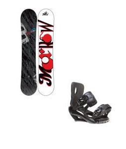 Morrow Fury Snowboard 155 w/ Sapient Fusion Snowboard Bindings