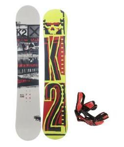 K2 Brigade Wide Snowboard w/ Lamar Wrap Snowboard Bindings