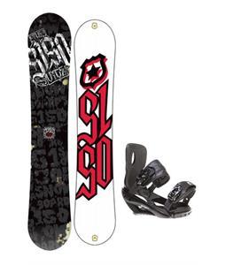 5150 Vice Wide Snowboard 163 w/ Sapient Wisdom Snowboard Bindings