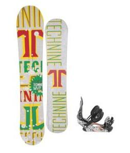 Technine MVP Series Snowboard 157 Rasta w/ Ride LX Snowboard Bindings