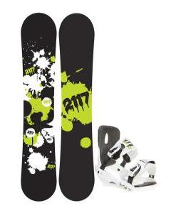 2117 Of Sweden Identity Wide Snowboard 159 2014 w/ Sapient Stash Snowboard Bindings