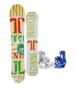 Technine MVP Series Snowboard 159 Rasta w/ Forum Faction Snowboard Bindings